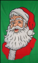 SANTA FACE GREEN - 5 X 3 FLAG